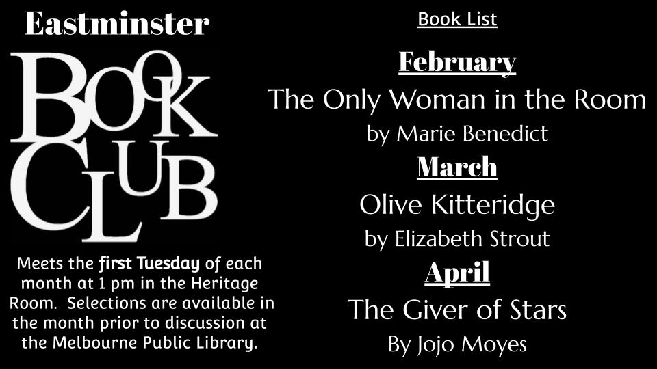 eastminster book club Q1 2021 selections