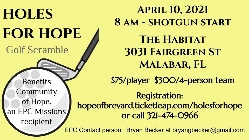 HolesForHope eastminster presbyterian church missions recipient