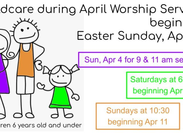 Childcare During Worship Services