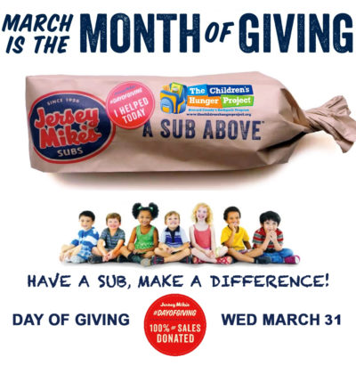 The Hunger Project & Jersey Mike's