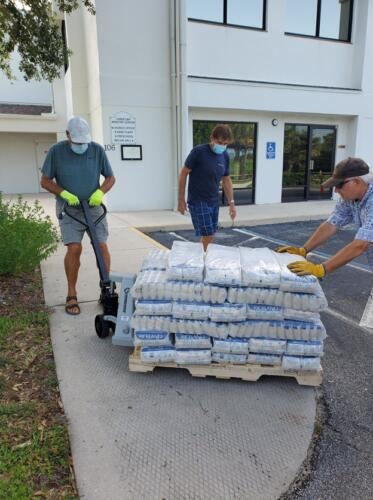 Local Mission partners of Eastminster Presbyterian Church ,Indialantic Florida. Interfaith Food Drive and Distribution.